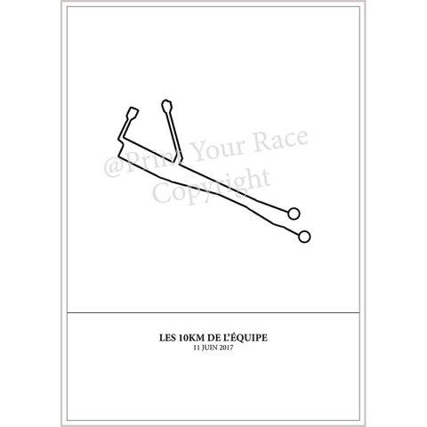 Affiche 10km de l'équipe 2017 par Print Your Race