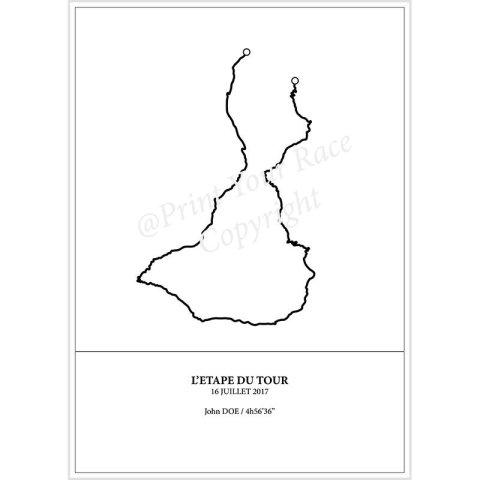 Etape du Tour 2017 poster by Print Your Race