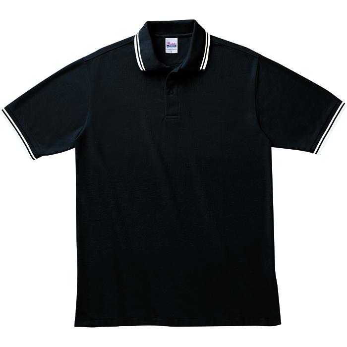 00191-BLPブラックポロシャツ