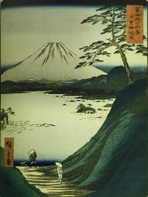 Hiroshige 1 Fuji from the Misaka Pass in Kai Province