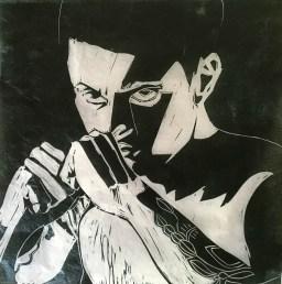 Leon black print