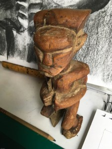 African wood statue photo