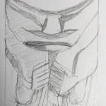 African statue sketch 2