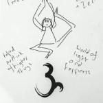 Fanzine Yoga sketch