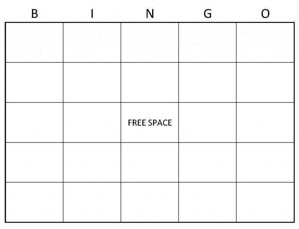 Bingo Worksheet Template