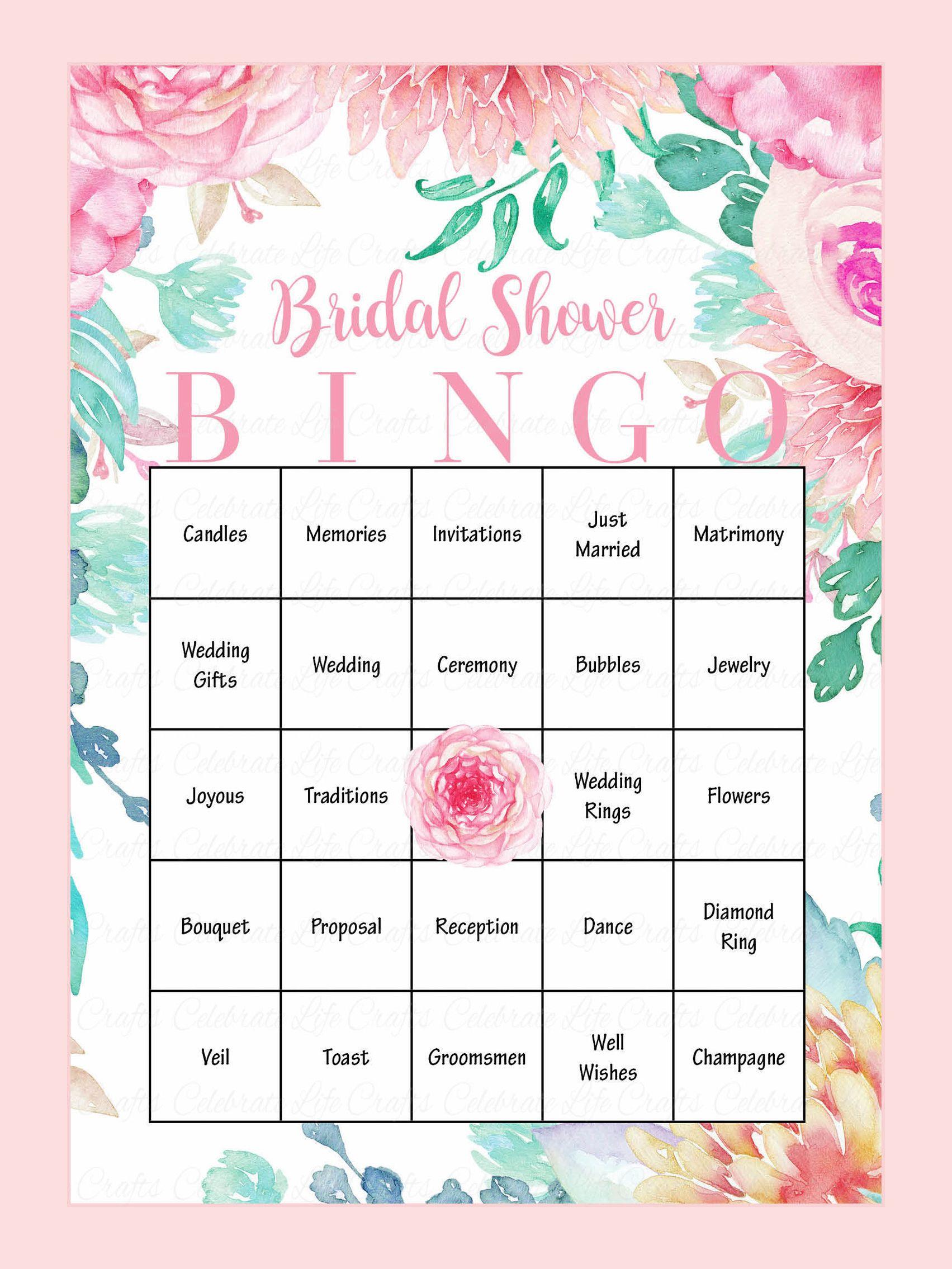 Printable Bridal Shower Bingo Cards