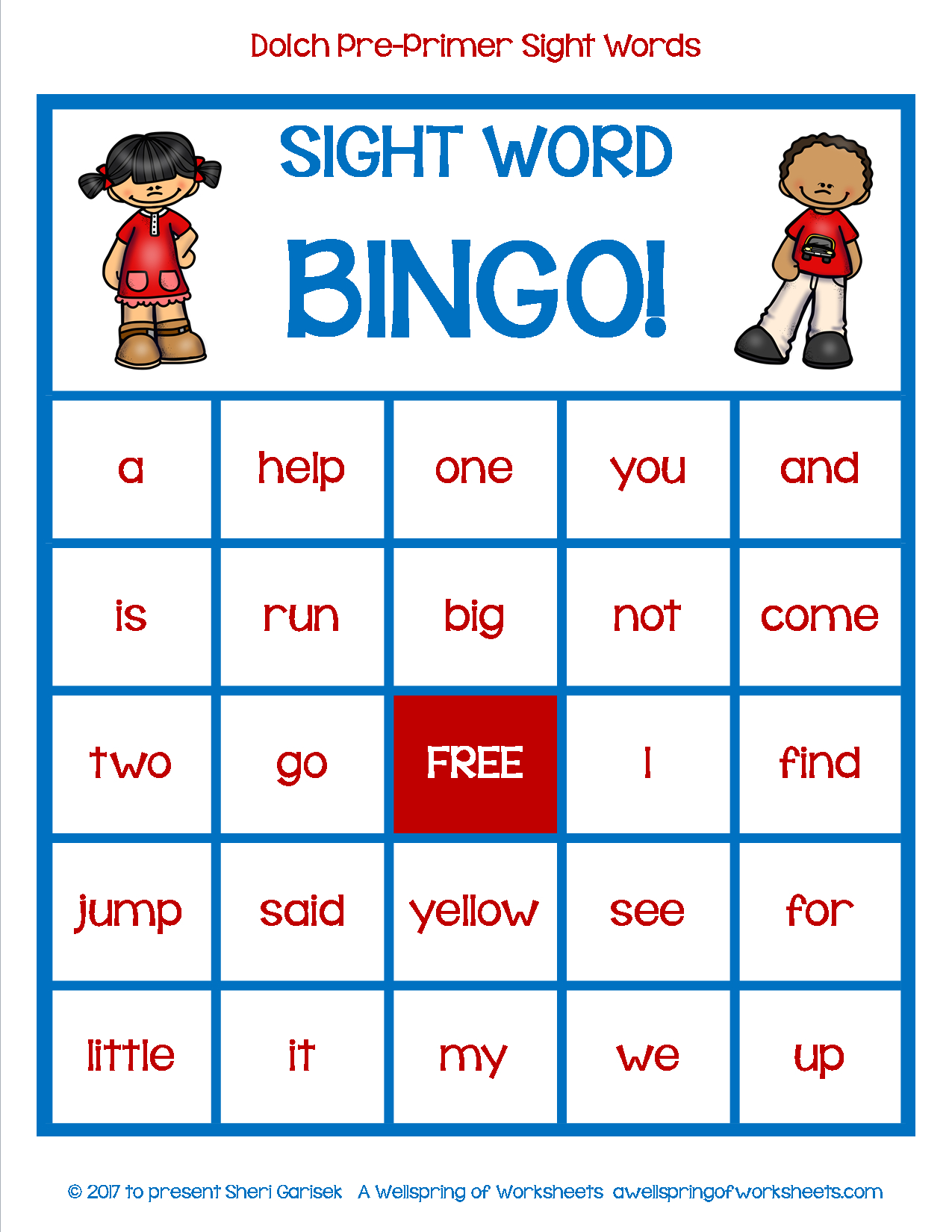 Dolch Pre Primer Sight Word Game