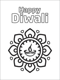 Free Printable Diwali Cards, Create and Print Free