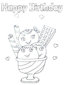 Free Printable Birthday Coloring Cards Cards, Create and