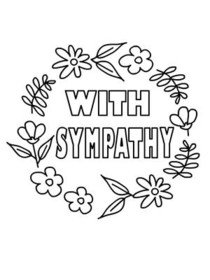 Free Printable Sympathy Coloring Cards Cards, Create and