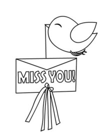 Free Printable Color Your Card Miss You Cards, Create and