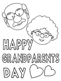 Free Printable Color Your Card Grandparents Day Cards
