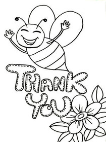 Free Printable Color Your Card Thank You Cards, Create and