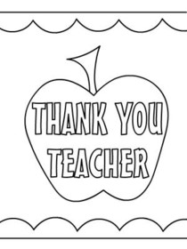 Free Printable Teacher Appreciation Coloring Cards Cards