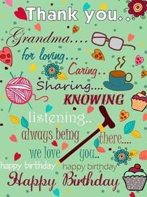Happy Birthday Grandma Printable Card : happy, birthday, grandma, printable, Printable, Birthday, Grandma, Cards,, Create, Print, Cards