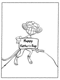 Free Printable Color Your Card Father's Day Cards, Create