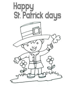 Free Printable Color Your Card St Patrick's Day Cards