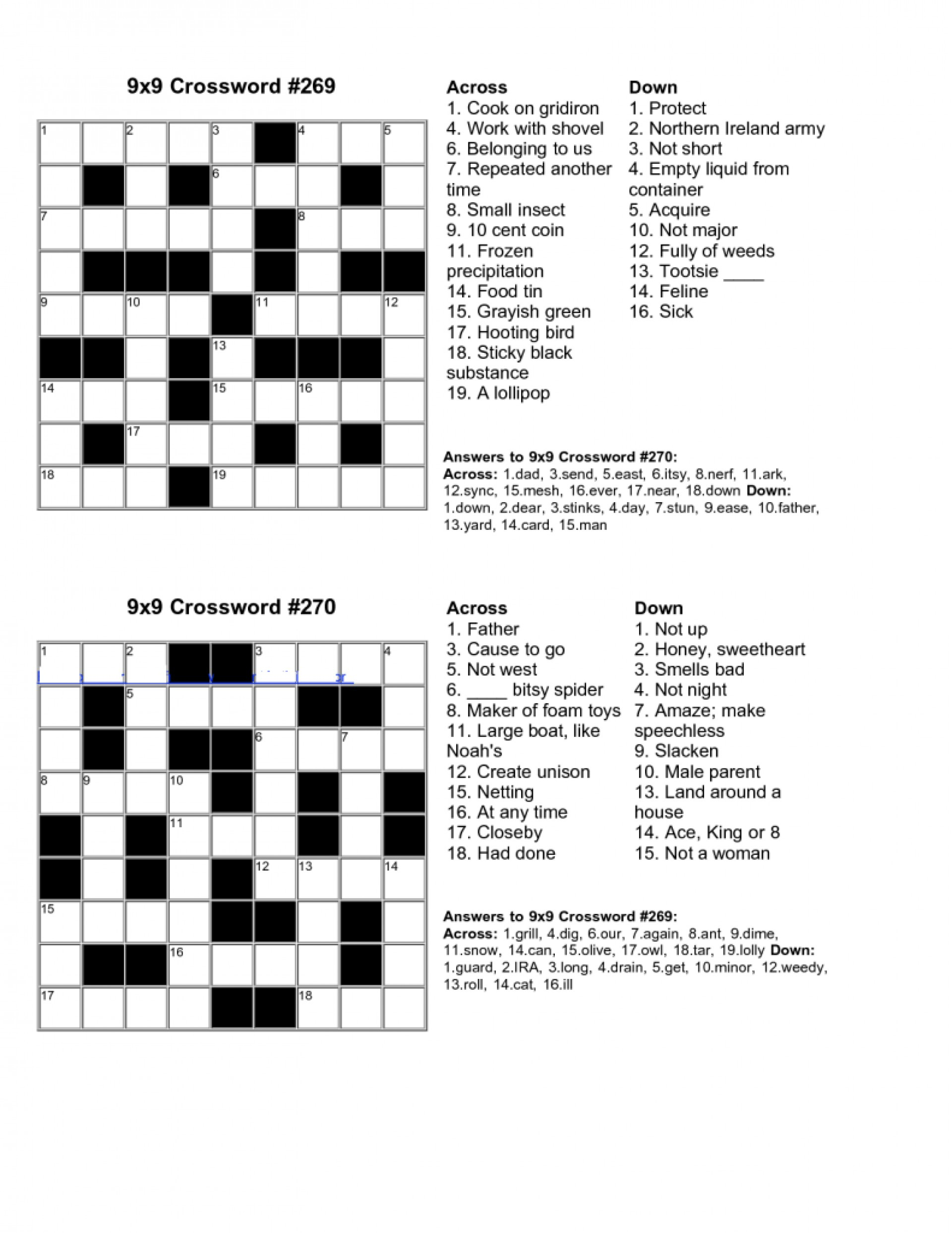 Create A Crossword Puzzle Free Printable