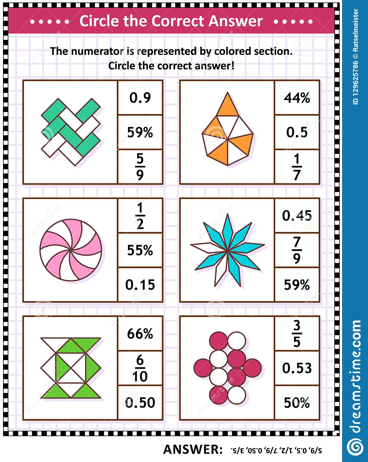 Math Skills Training Visual Puzzle Worksheet