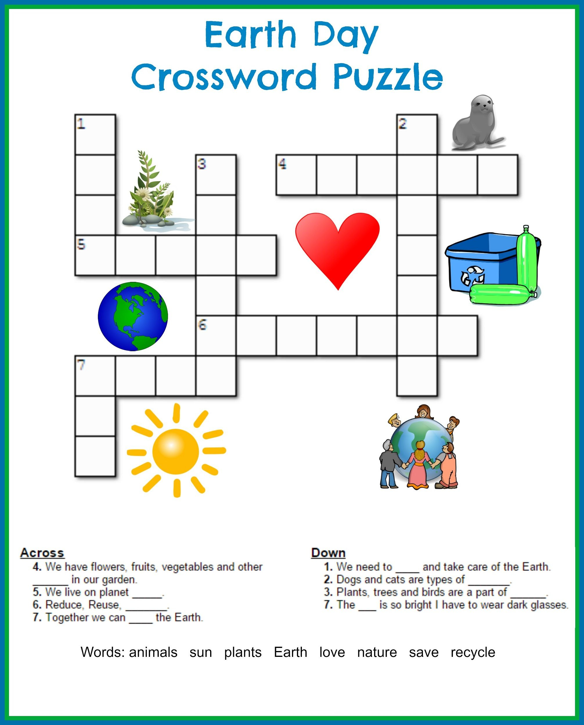 Printable Crosswords For Year 4