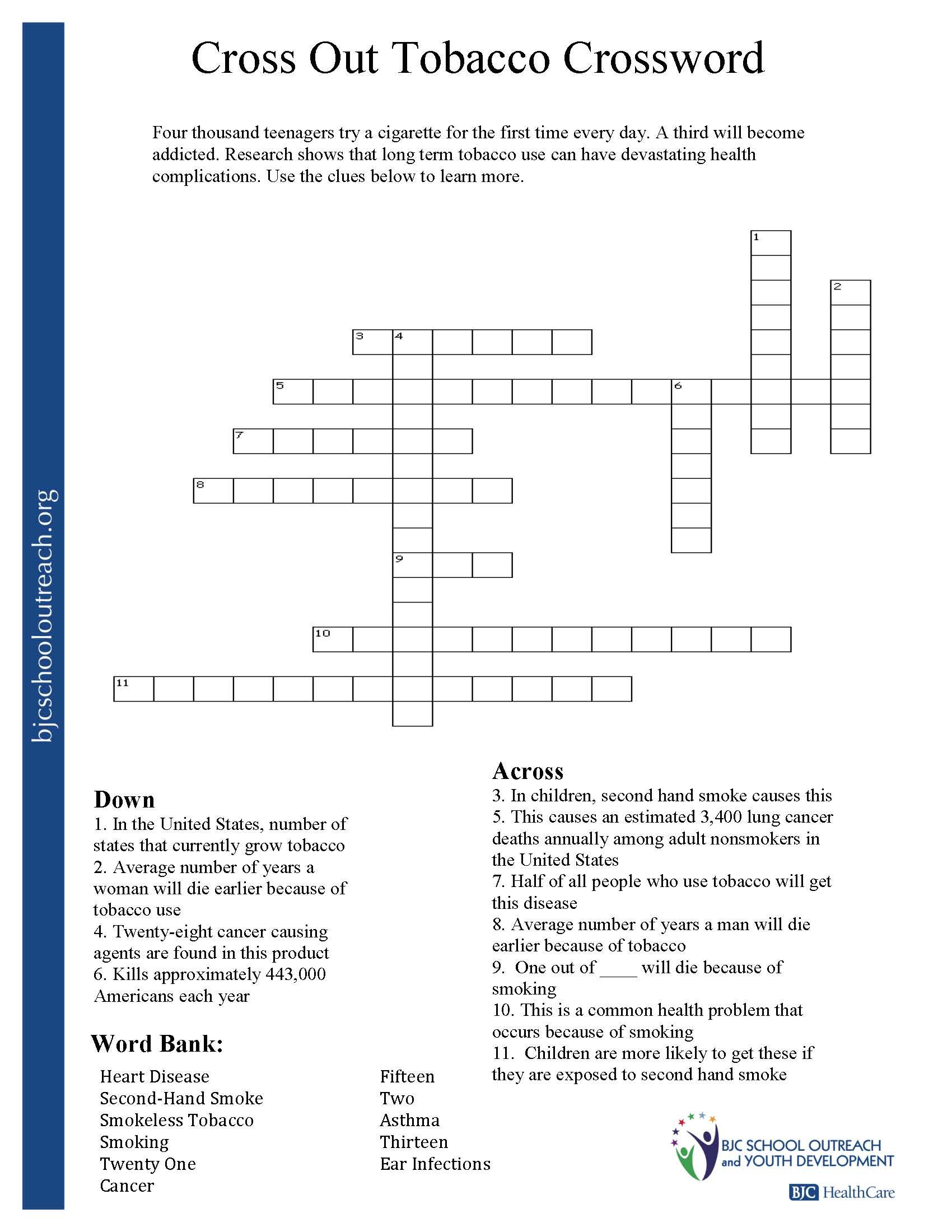 Respect Crossword Puzzle Printable