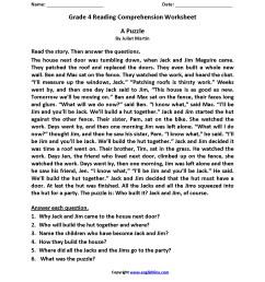 Printable Fourth Grade Logic Puzzle Worksheets   Printable Worksheets and  Activities for Teachers [ 2200 x 1700 Pixel ]