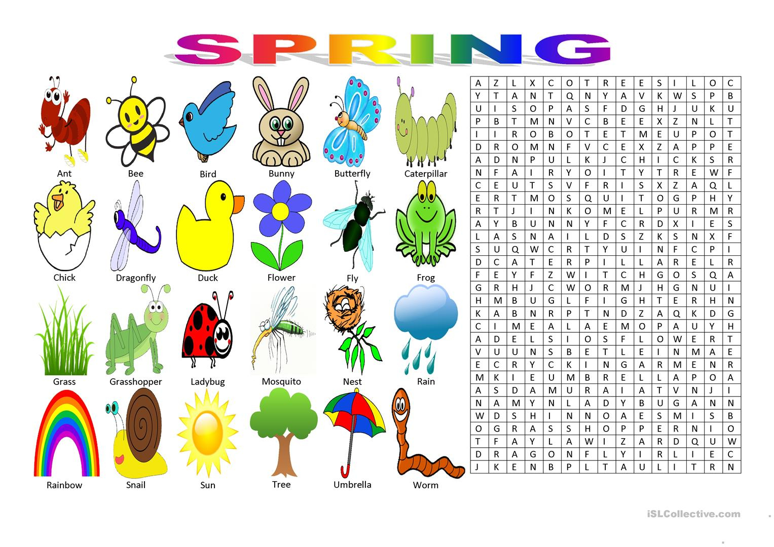 Printable Spring Puzzles