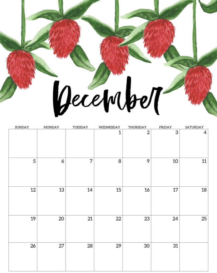 December 2021 Calendar PDF, Word, Excel Template