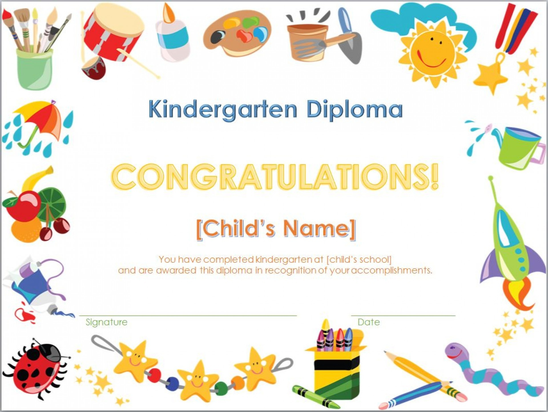 Free Printable Graduation Certificates Templates