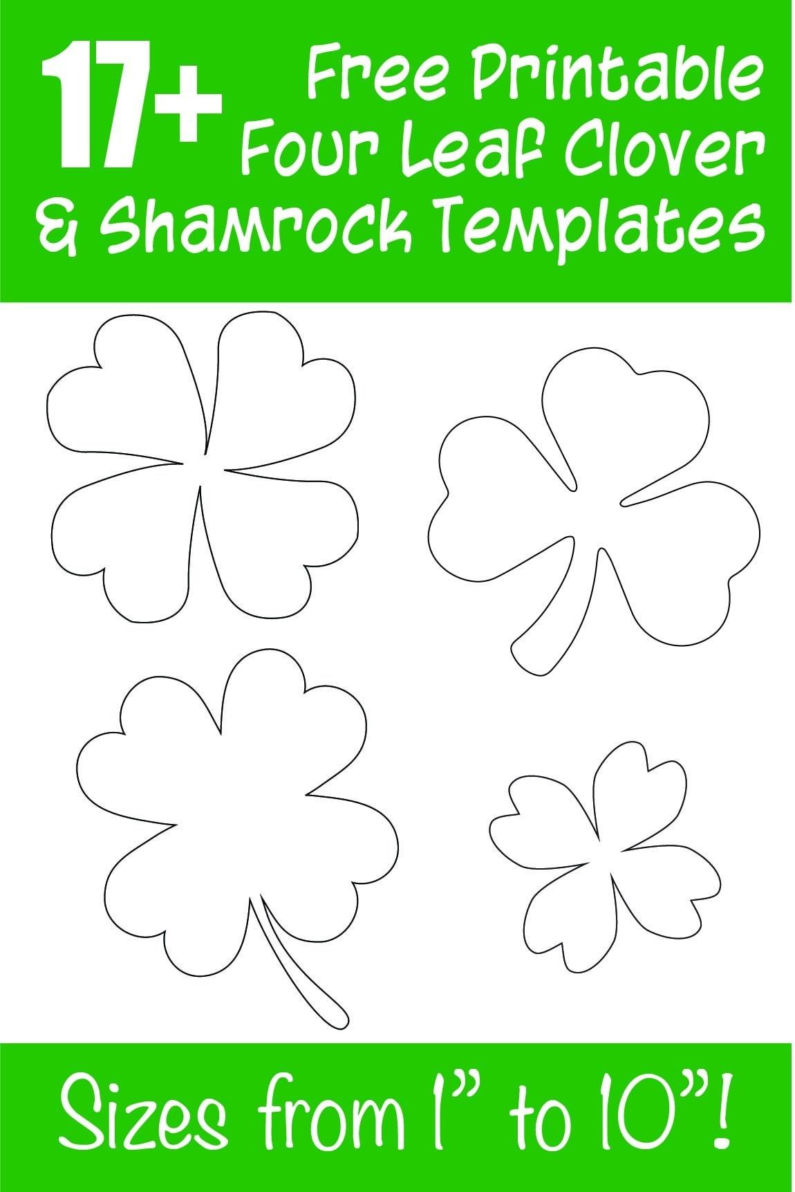 Free Printable Shamrocks
