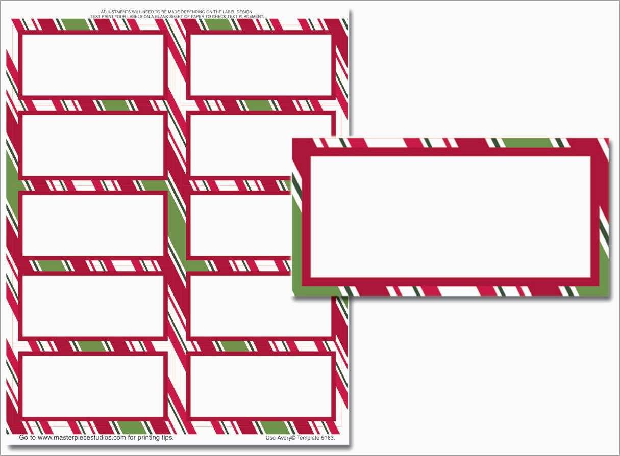 Free Printable Christmas Address Labels Avery