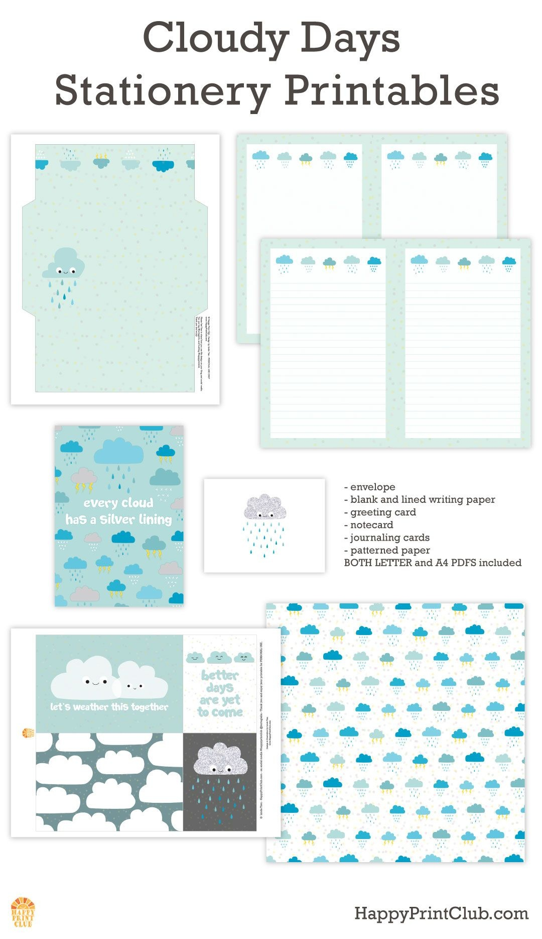 Blank Letterhead Paper 8 Free Printable Stationery