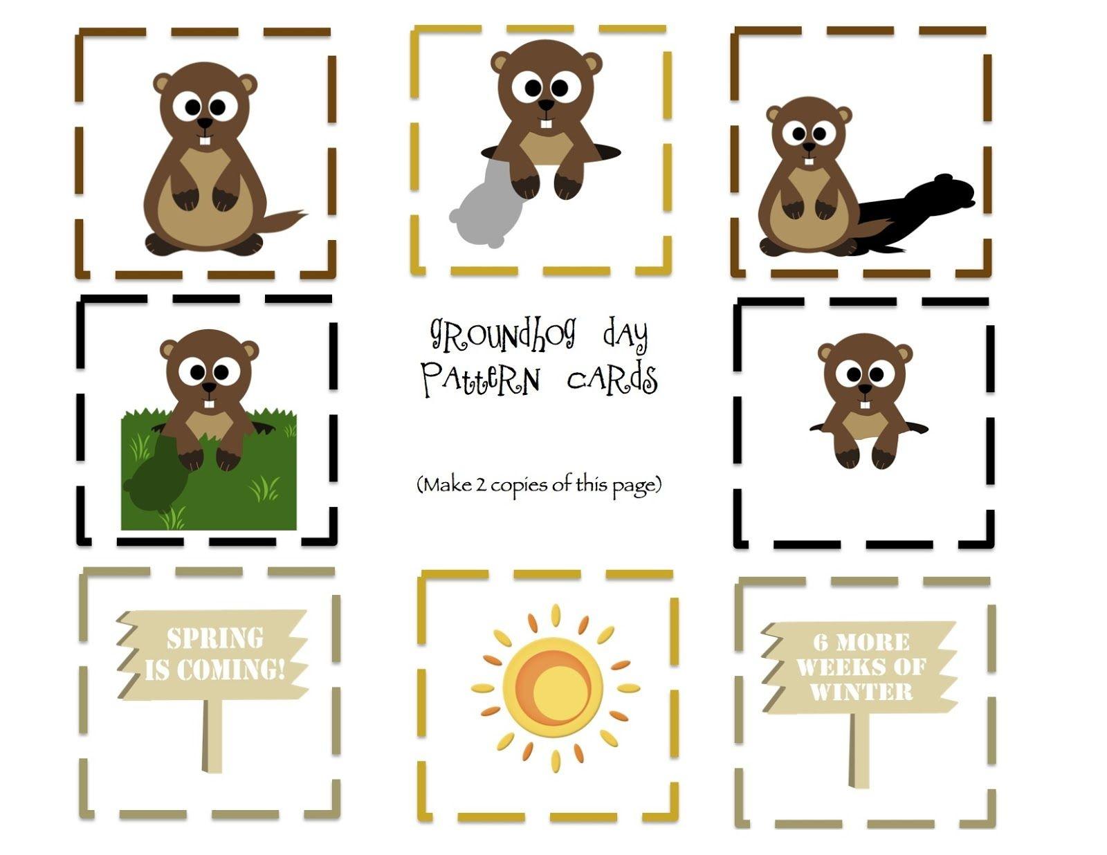 Free Groundhog Printables Preschool