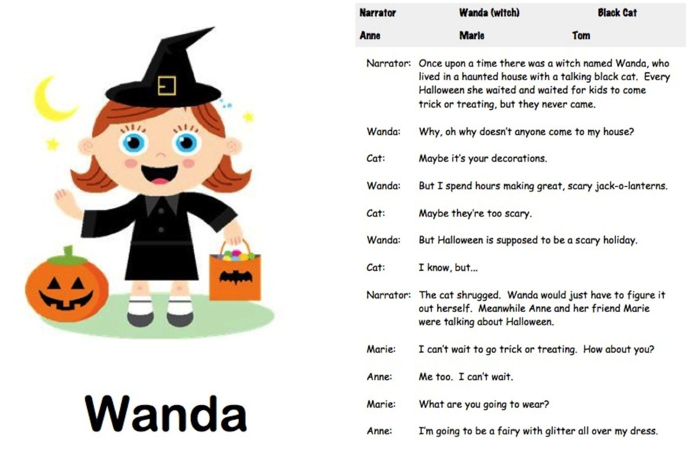 Free Printable Halloween Play Scripts
