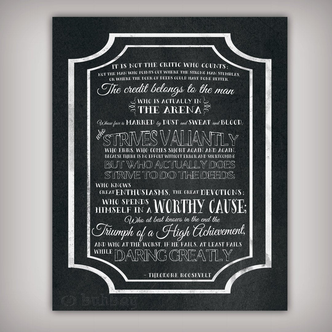 Man In The Arena Free Printable