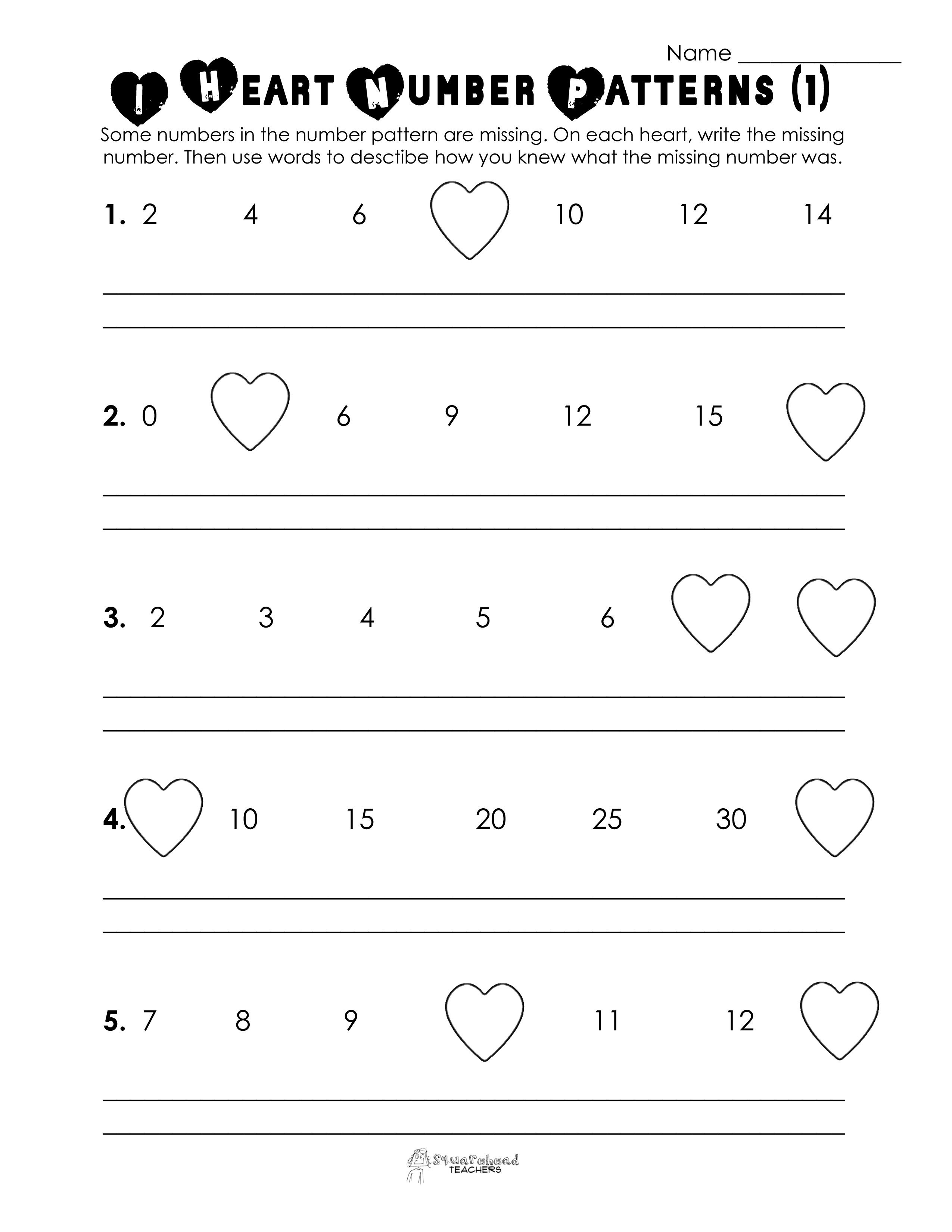 Free Valentine Math Worksheets And Printables