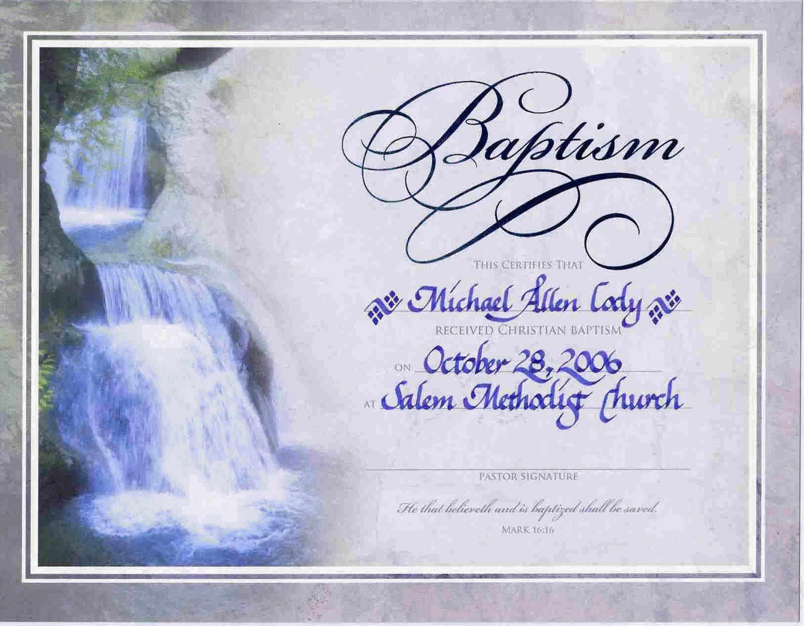 Free Online Printable Baptism Certificates