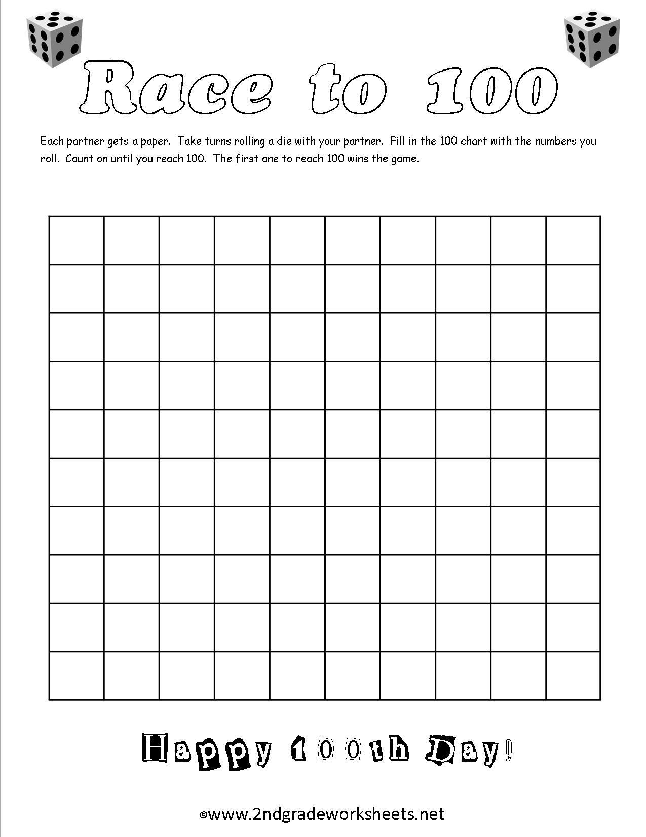 100 Days Of School Free Printables