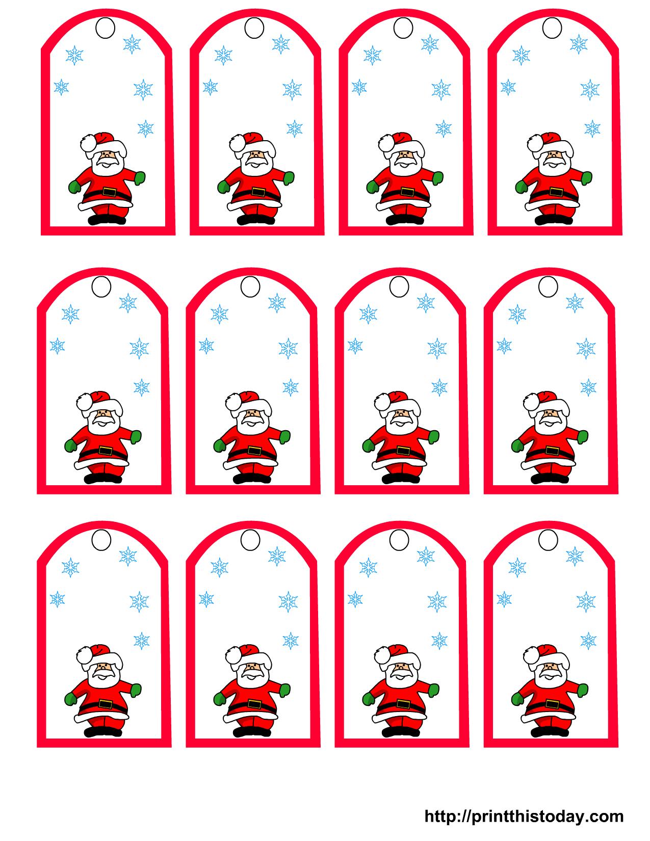 Free Printable Christmas Price Tags
