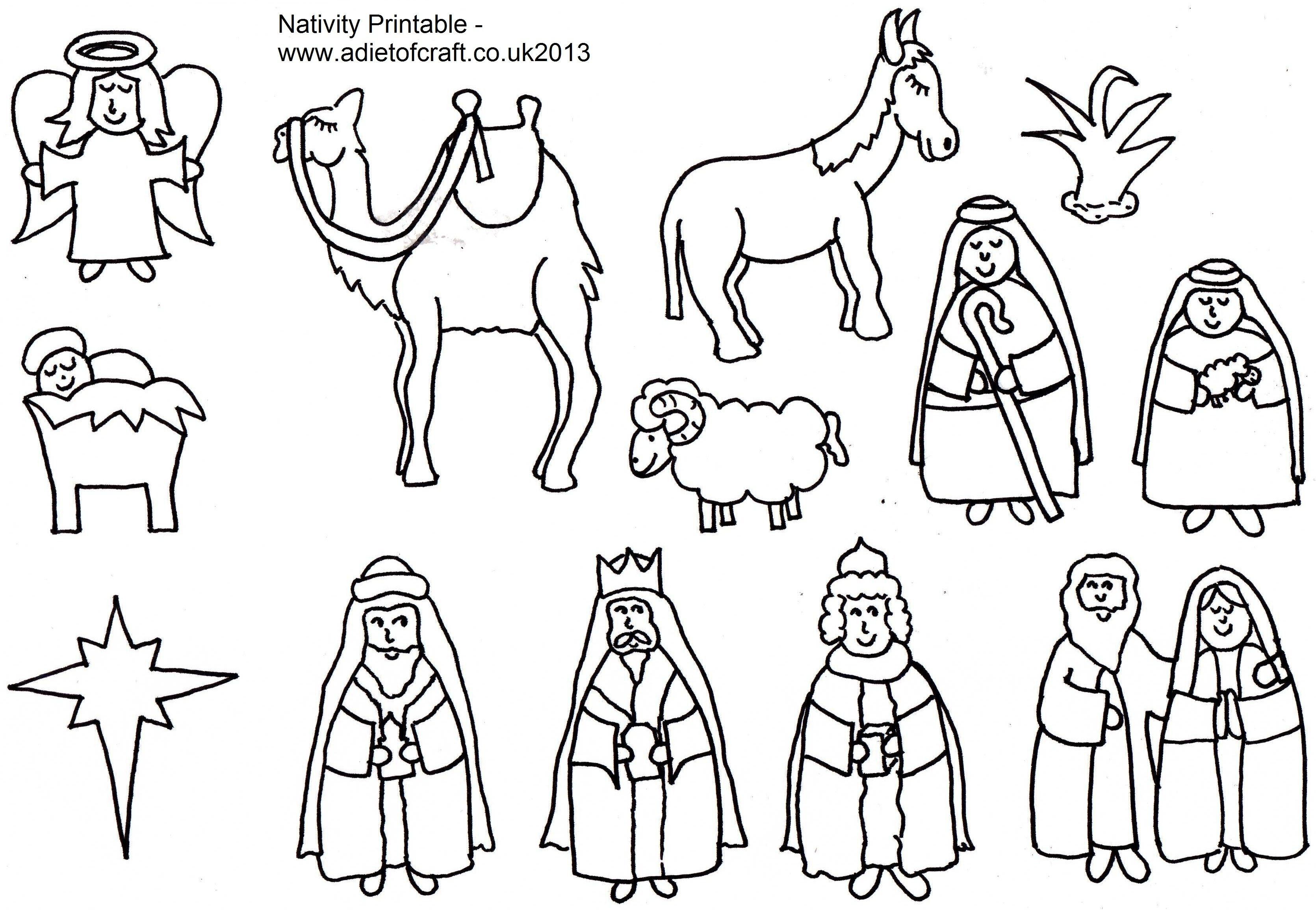 Christian Christmas Activities Free Nativity Coloring