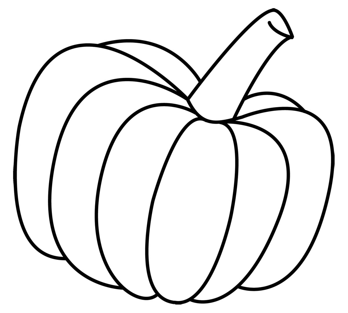 Pumpkin Shape Template Printable Free