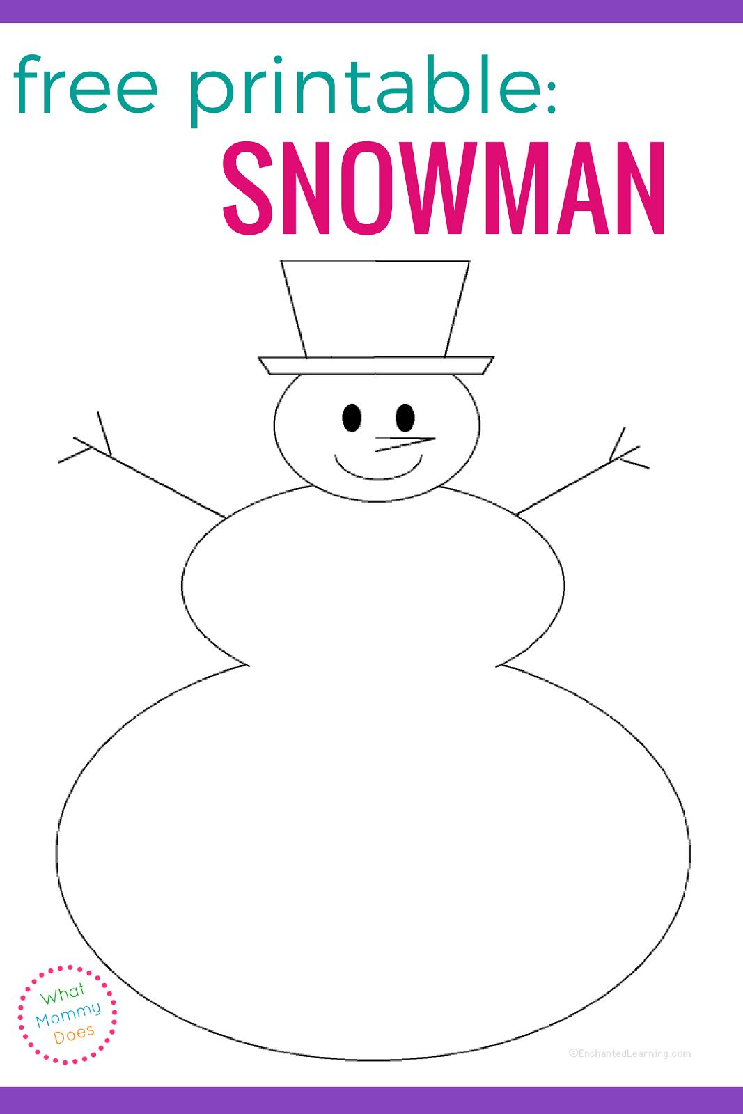 Free Printable Snowman Face Stencils