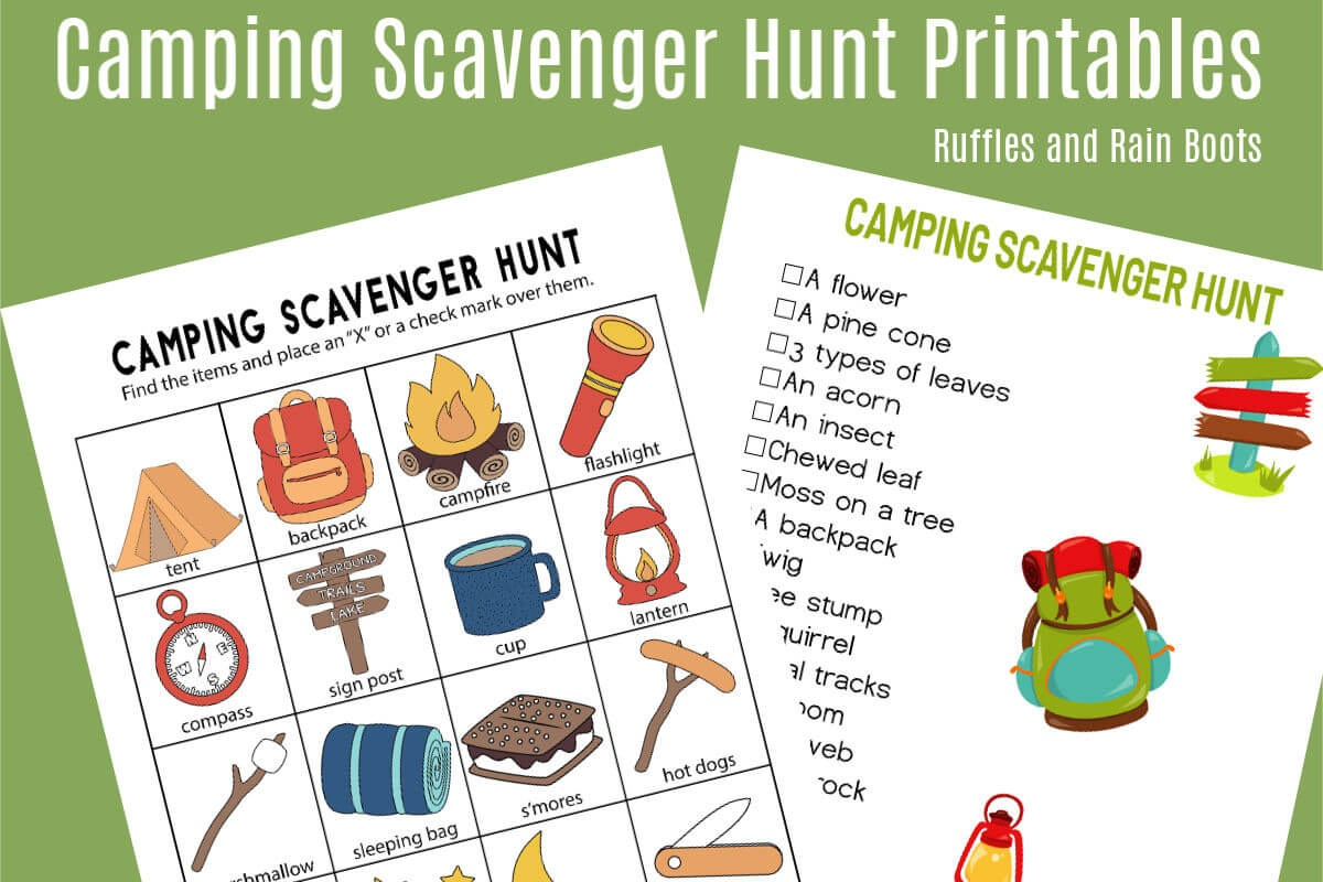 Free Nature Scavenger Hunt List W Free Printable