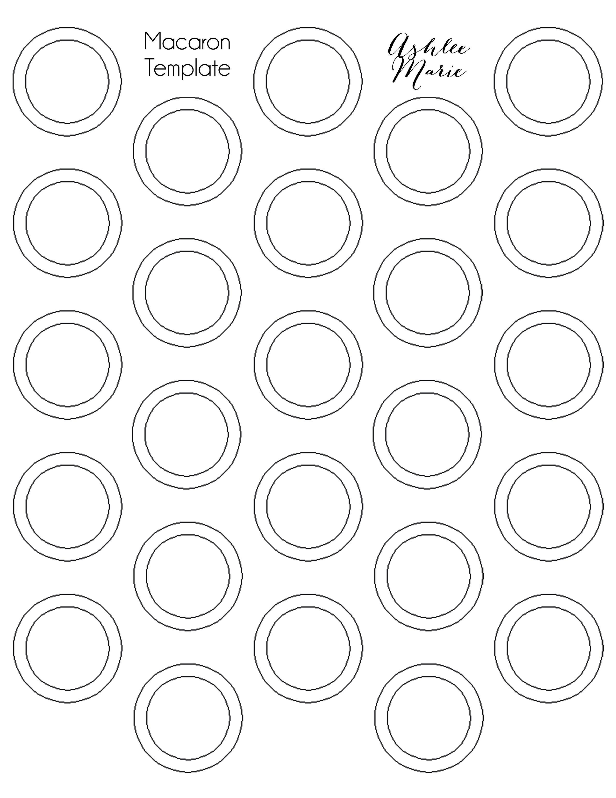 Free Printable Macaron Template