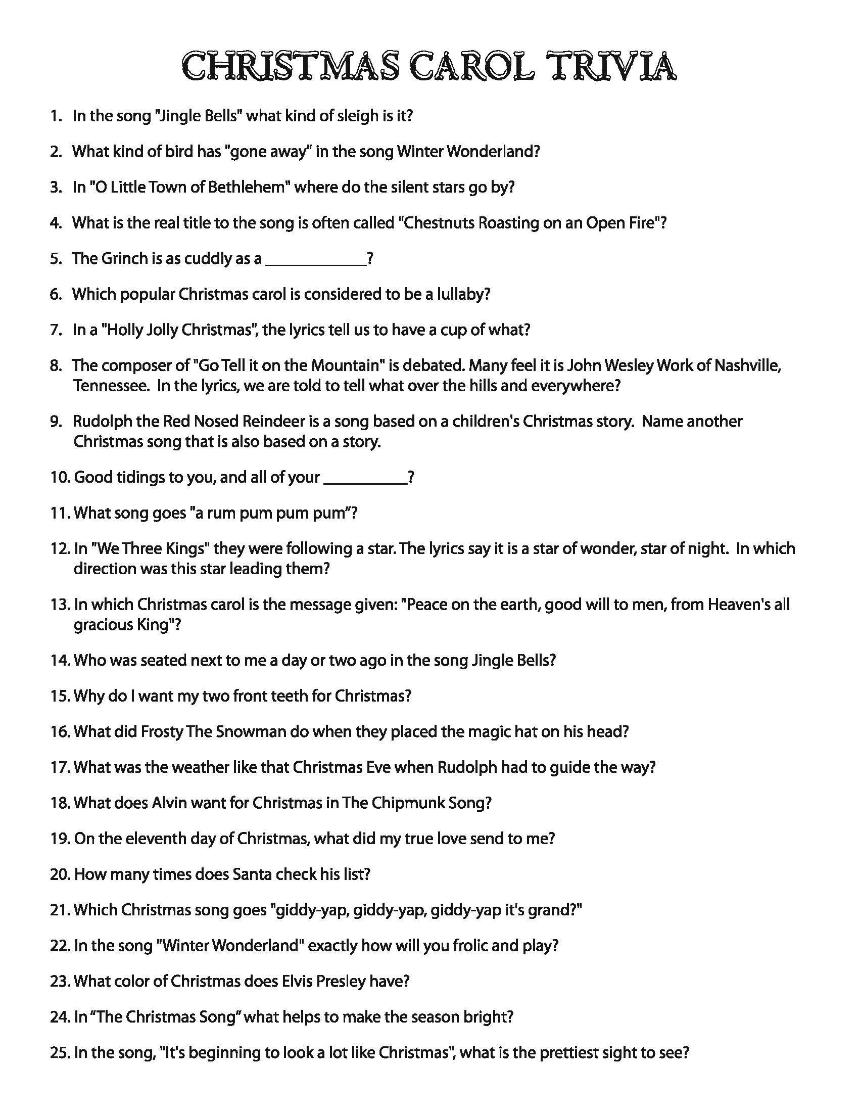 Free Printable Holiday Brain Teasers