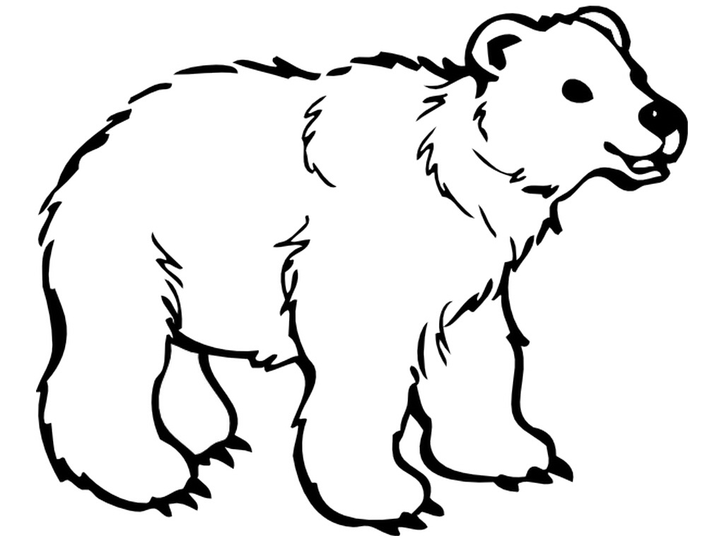 Grizzly Bear Family Coloring Page