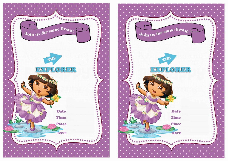 Dora Dancing Ballet Free Party Printable