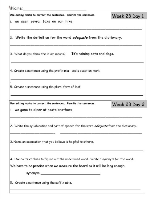 small resolution of Good Morning Worksheets For 4th Graders   Printable Worksheets and  Activities for Teachers