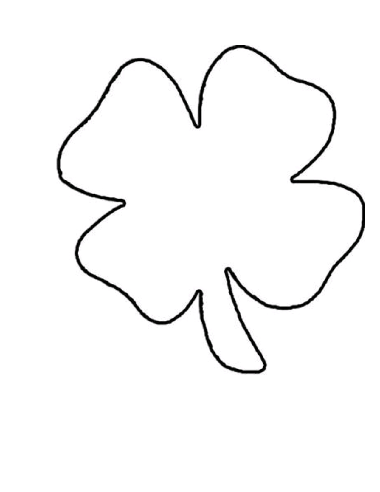 Four Leaf Clover Template Printable Free