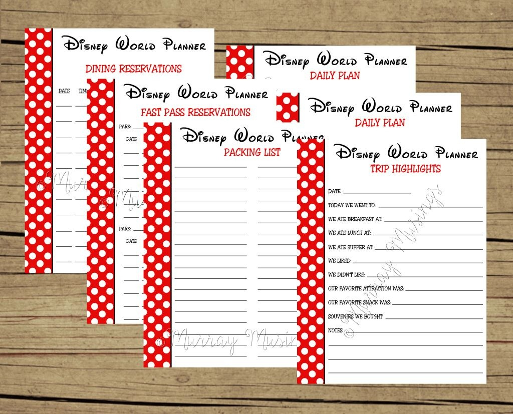 Free Disney Planning Binder Printables